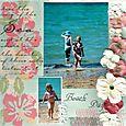 """Beach Days"" layout by Janine Cobb"