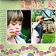 """Bubbles"" layout by Janine Cobb"