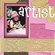 """A Beautiful Artist"" layout by Janine Cobb"