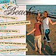 """Golden beaches"" layout by Janine Cobb"