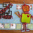 Rochelle La'Brooy-McIver - Robot Canvas