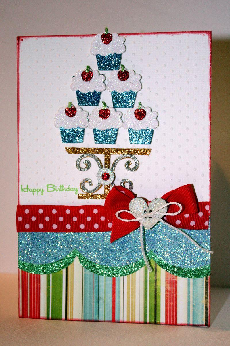 Cupcakehappybirthdaycard