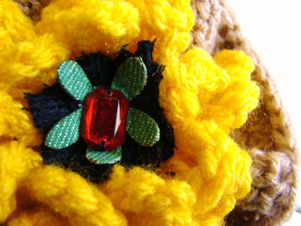 Flower Brooch Close Up Small