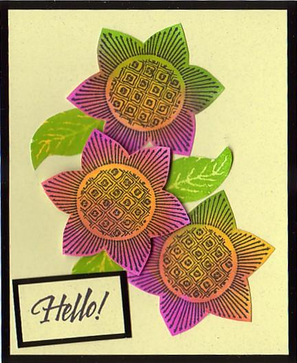 """Bold and Bright Hello"" Card by Kris Hankins"