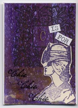 """""""C is for chic"""" ATC by Helene"""