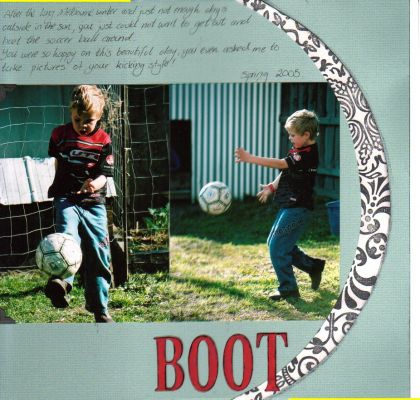 """Boot"" layout by Janine Cobb"