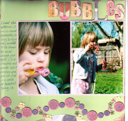 """Bubbles"" layout by Janine Cobb"