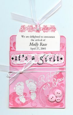 """Baby Announcement: inside"" by Sue McGettigan"