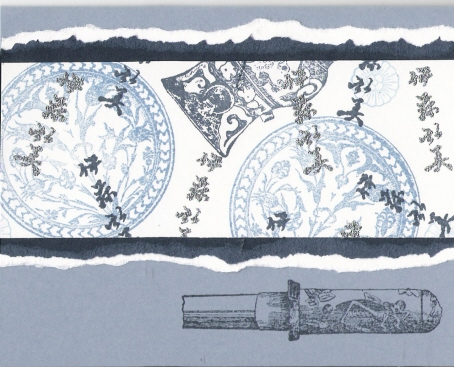 """Blue and White Oriental Card "" by Sue McGettigan"
